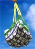 合成纤维吊装网,扁平带吊兜,高强度吊货网