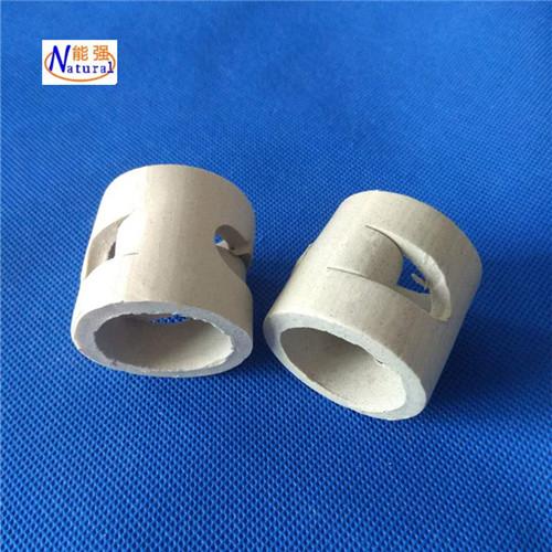 供应50mm鲍尔环填料 陶瓷散堆填料 量大价优陶瓷鲍尔环